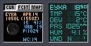 WMWeather screenshot'as. WMWeather+ - iš kairės, o WMWeather - iš dešinės.
